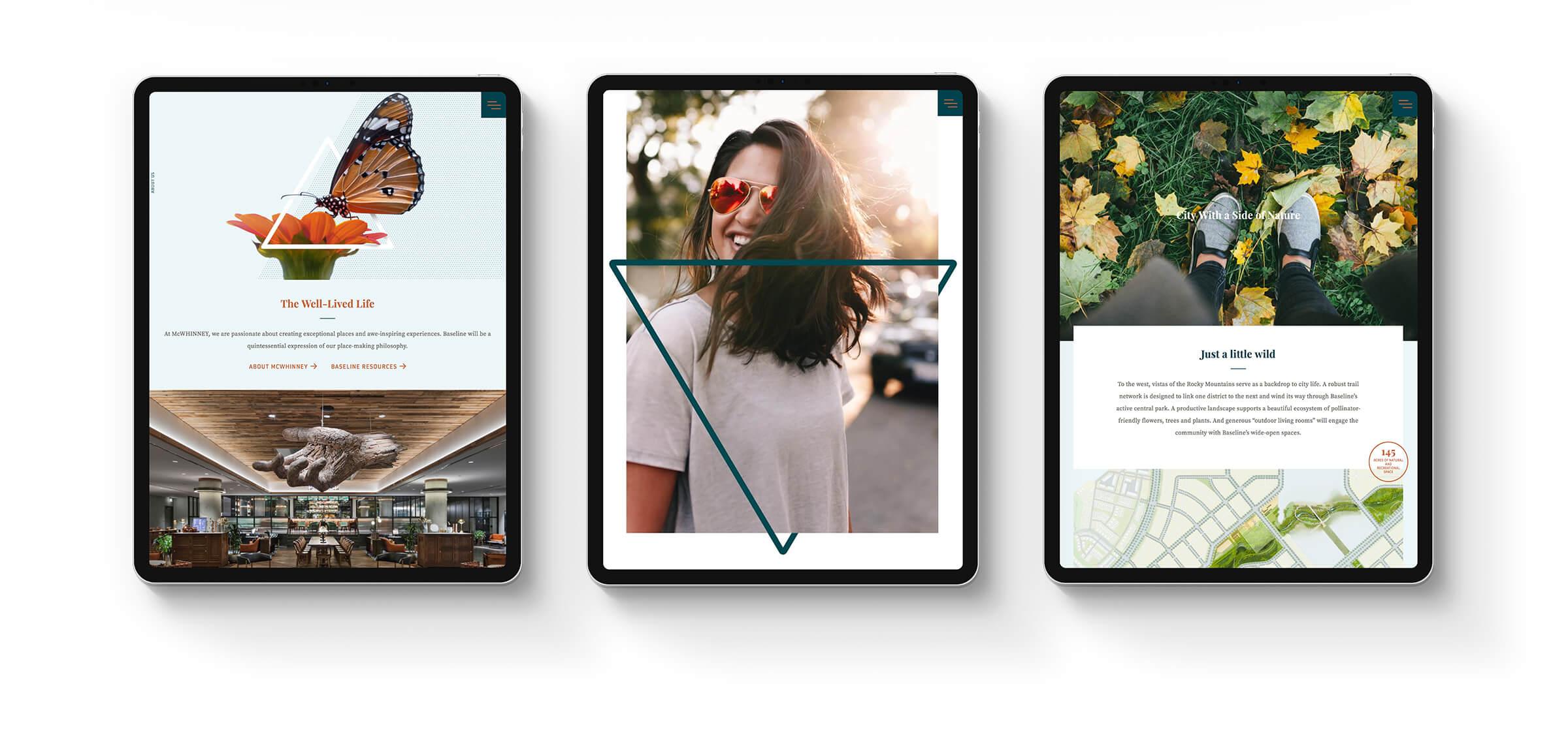 Baseline Website on iPad