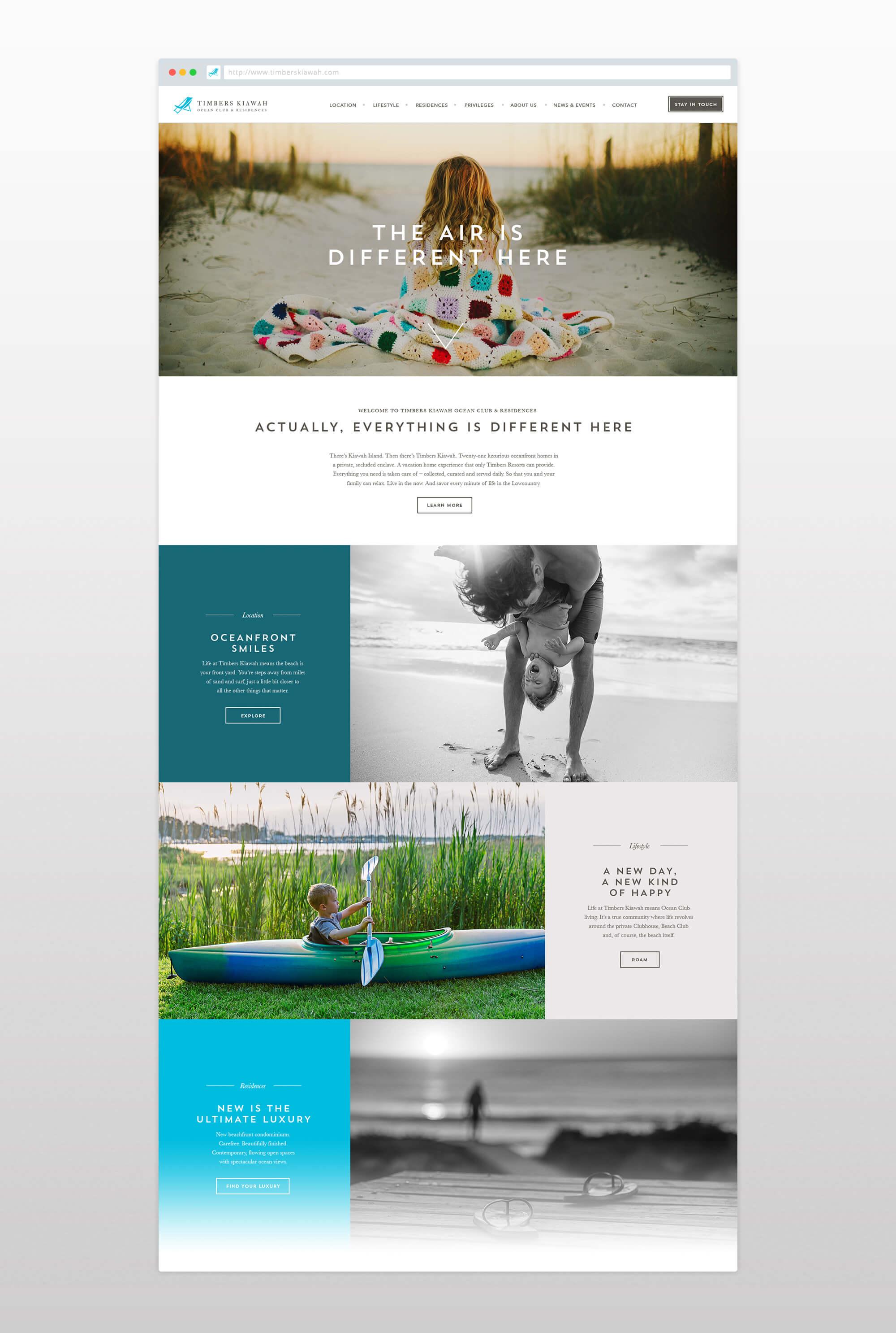 Timbers Kiawah Website
